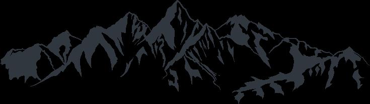 Dibujo perfil montañas